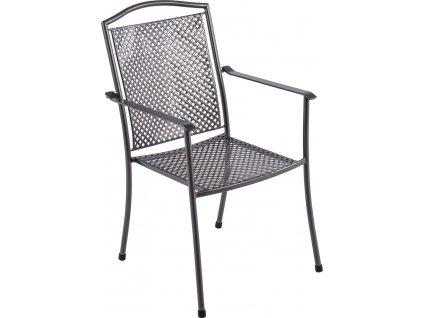Garland Domino steel - stohovatelná židle z tahokovu 66,5 x 55,5 x 92,5 cm