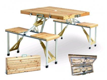 27833 wood star piknikovy skladaci set