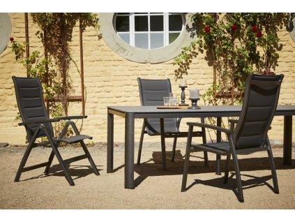 Royal Garden Royal Richmond Set 1 - sestava nábytku (1x stůl Rocco + 4x stoh. židle Royal Richmond + 2x pol. křeslo Royal Richmond)