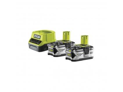 Ryobi RC18120-240 - sada 2x 18 V lithium iontová baterie 4 Ah s nabíječkou RC18120 ONE+