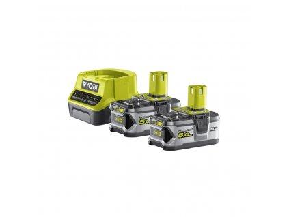 Ryobi RC18120-250 - sada 2x 18 V lithium iontová baterie 5 Ah s nabíječkou RC18120 ONE+
