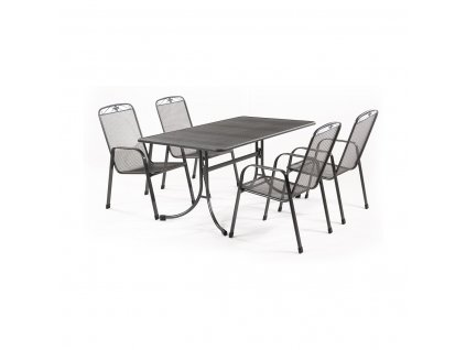 MWH Banis 4+ - sestava nábytku z tahokovu (4x židle Savoy, 1x stůl Universal 145)