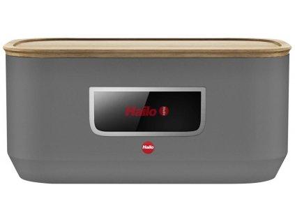 Hailo KitchenLine Design - šedý matný chlebník