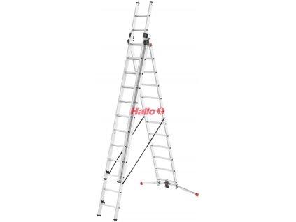 Hailo ProfiLOT 3-dílný hliníkový žebřík 3x12 příček