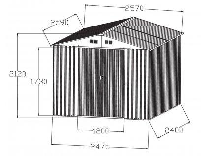 56186 hecht 8x8 plus zahradni domek