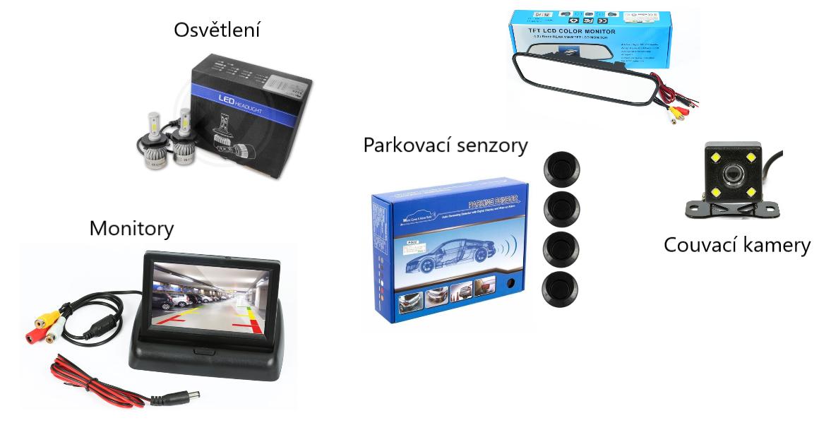 Kamery a monitory pro lepší přehled kolem vozidla