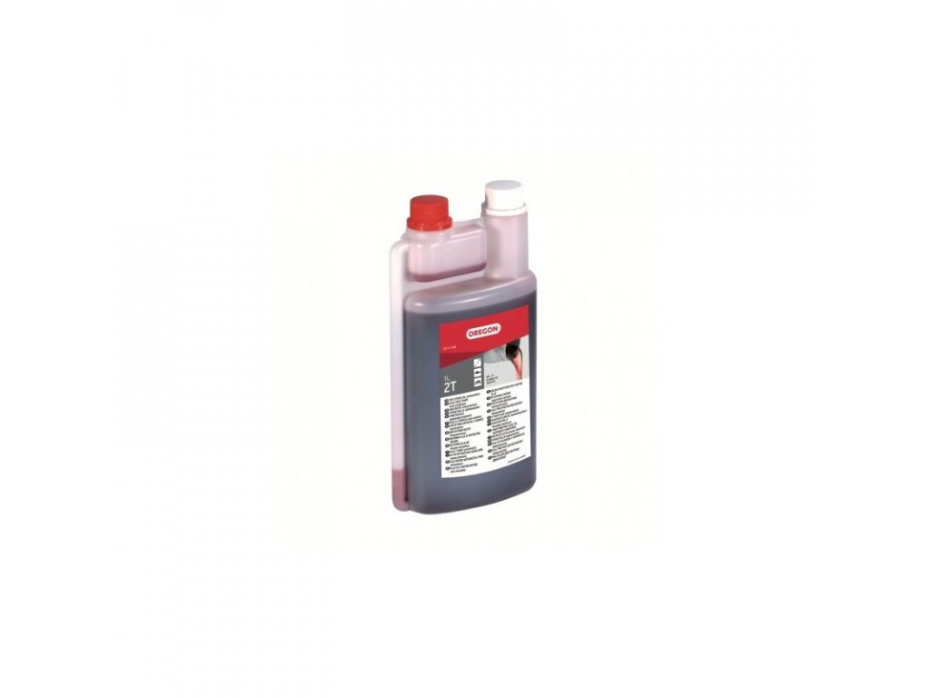 olej pro 2t motory 1l s odmerkou cerveny