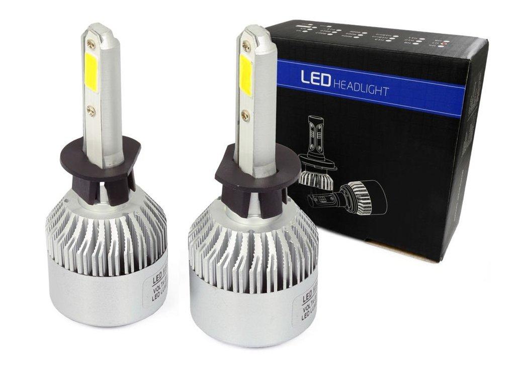 LED autožárovka H1 S2 COB 36W s aktivním chladičem 16000lm