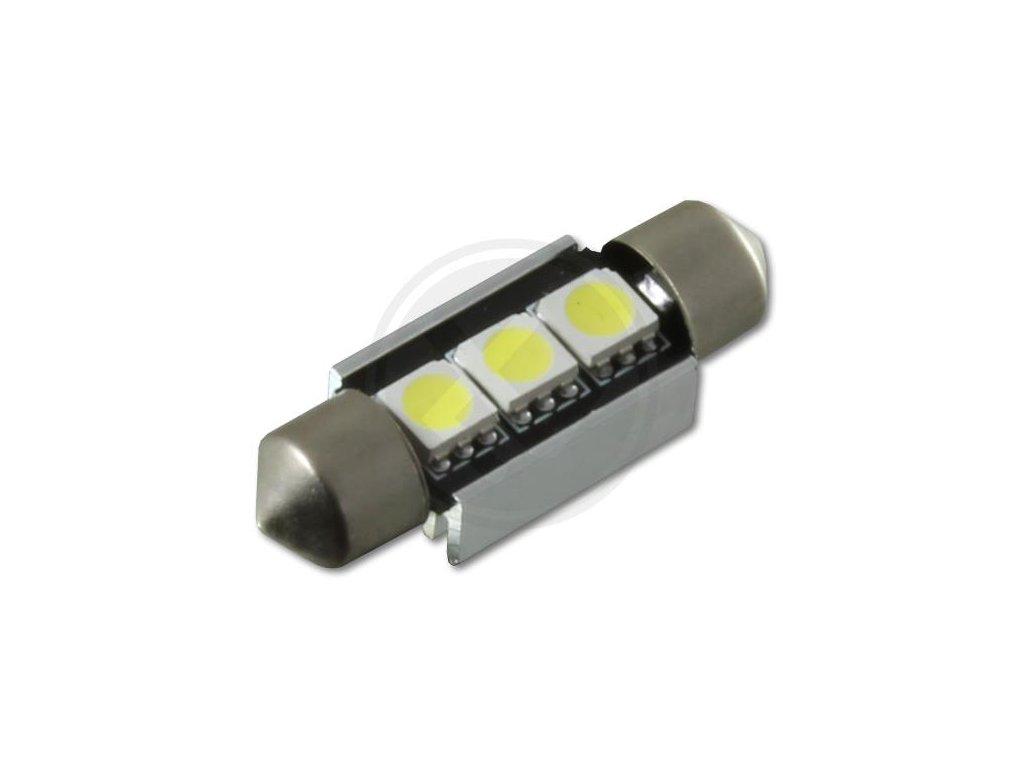 Led autožárovka C5W 36mm 3smd 5050 bílá CAN BUS