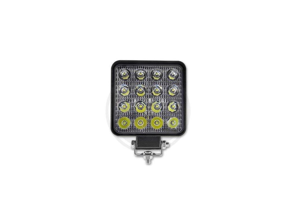 Přídavný čtvercový světlomet  10-30V 48W 16LED