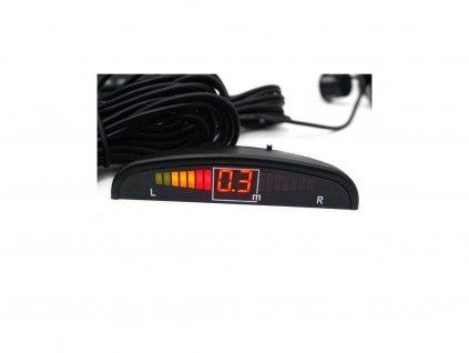 Parkovací systém 4 senzorový - stříbrný - zvuková signalizace i LED panel, D25mm