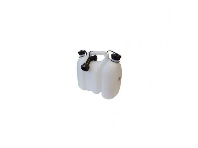 kanystr na palivo 3l a olej 15l yukon bily s nalevacim hrdlem