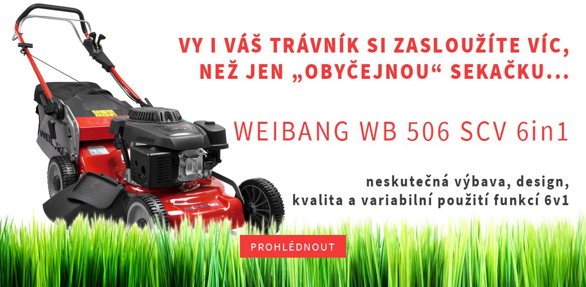 Motorová sekačka s pojezdem WEIBANG WB 506 SCV 6in1