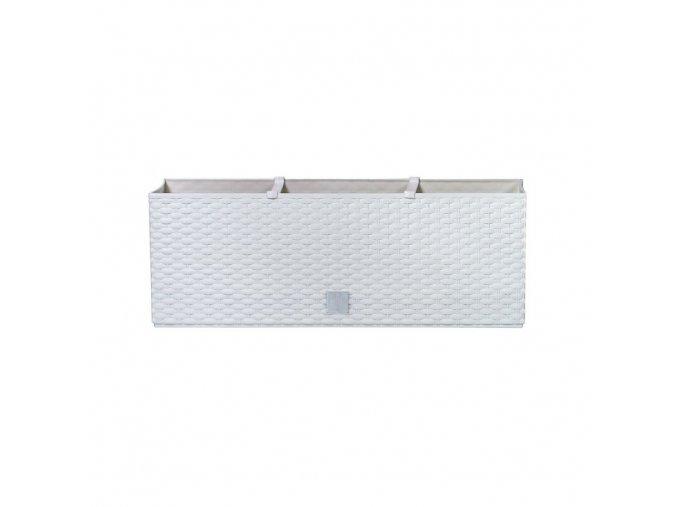 PROSPERPLAST - RATO CASE - samozavlažovací truhlík 50 cm bílá