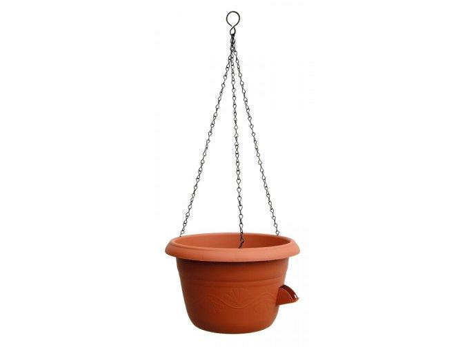PLASTIA - SIESTA závěsný květináč terakota