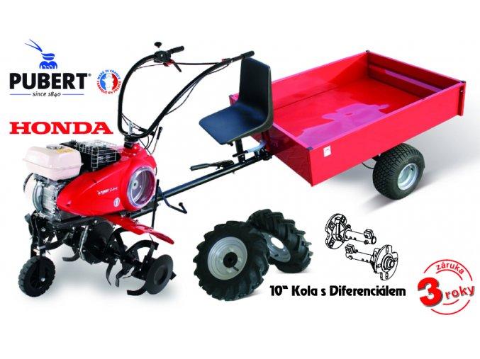 PUBERT - Akční SET s vozíkem:  Kultivátor  QUATRO JUNIOR 60H + vozík VARES IT 500