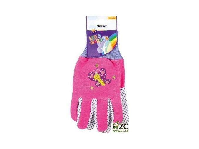 STOCKER - dětské pracovní rukavice růžové