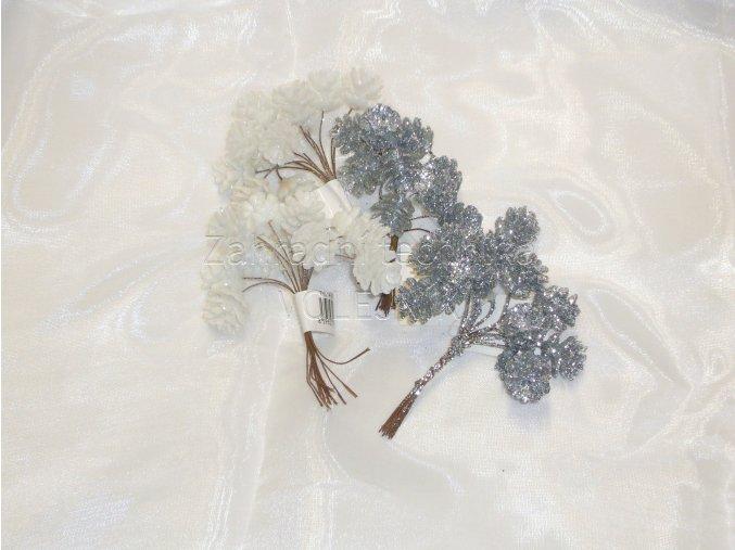 Dekorace - vánoční přízdoba - šiška glitter