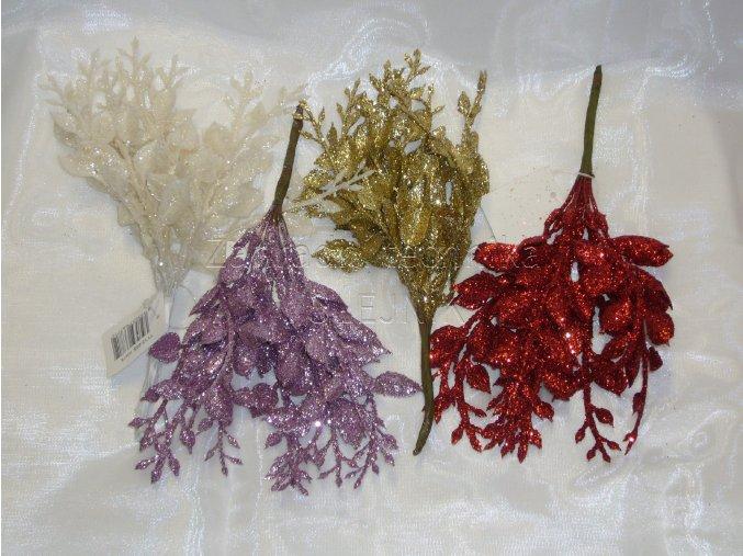 Dekorace - vánoční přízdoba - větvička vavřín