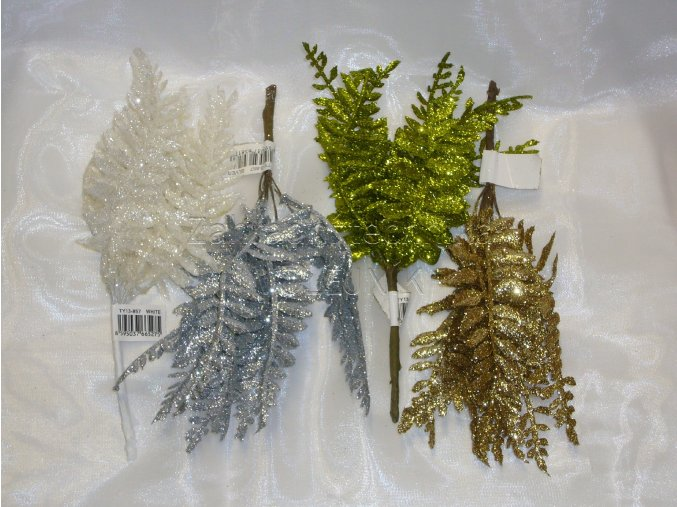 Dekorace - vánoční přízdoba - kapradí