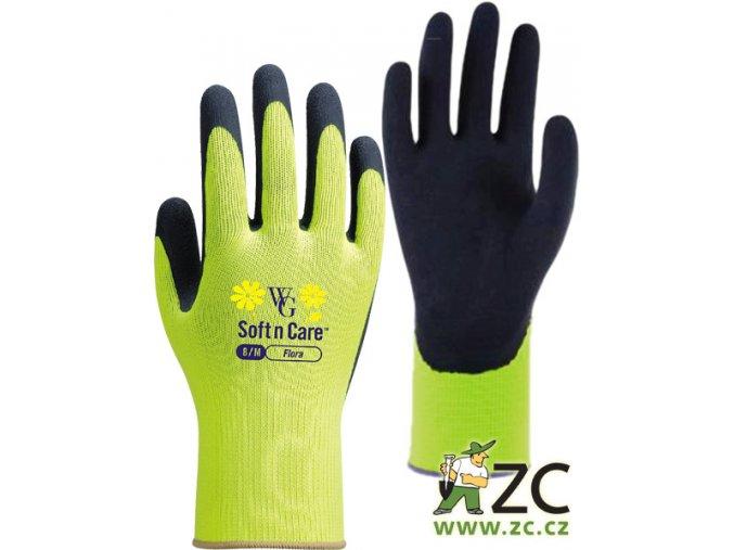 ROSTETO FLORA - pracovní rukavice limetkové