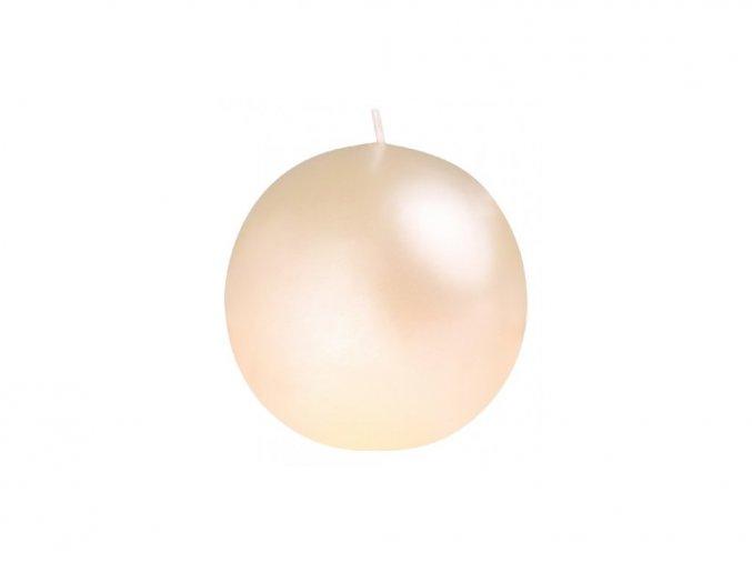 Svíčka koule 56 mm Perla krém