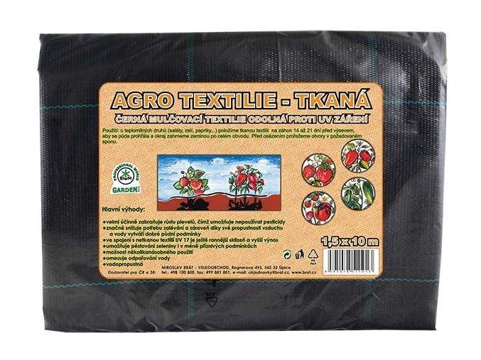 AGRO textilie tkaná černá mulčovací