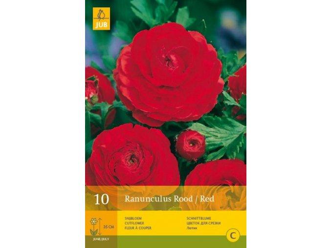 PRYSKYŘNÍK - Raununculus Rood / red