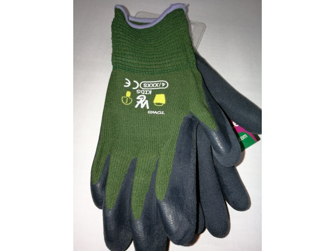 ROSTETO KIDS - dětské pracovní rukavice zelené