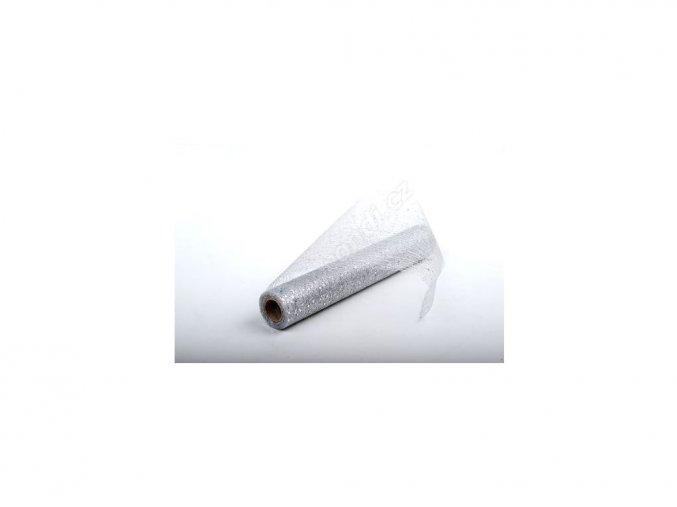 Stuha Fibre třpyt 30 cm x 4,6 m - bílá