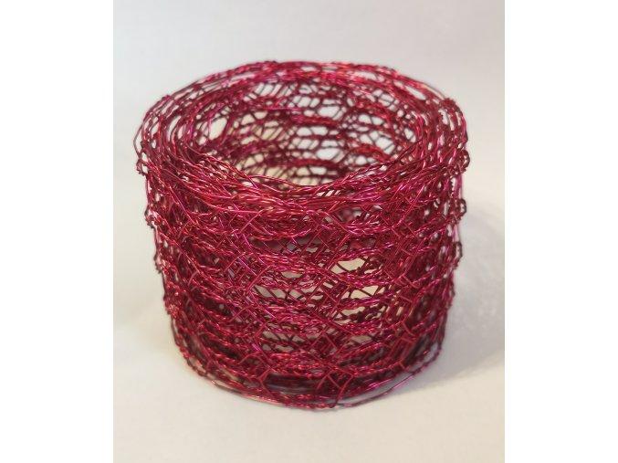 Vázací síťka Hexanet - 5 cm x 2,5 m - růžová