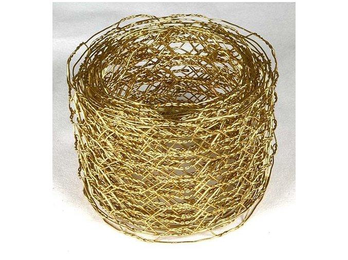 Vázací síťka Hexanet - 5 cm x 2,5 m - zlatá