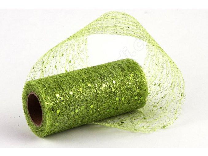 Stuha Fibre třpyt 10 cm x 4.6 m - zelená