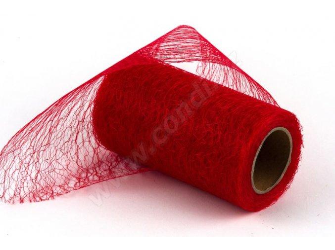 Stuha Fibre 12 cm x 9.1 m - červená