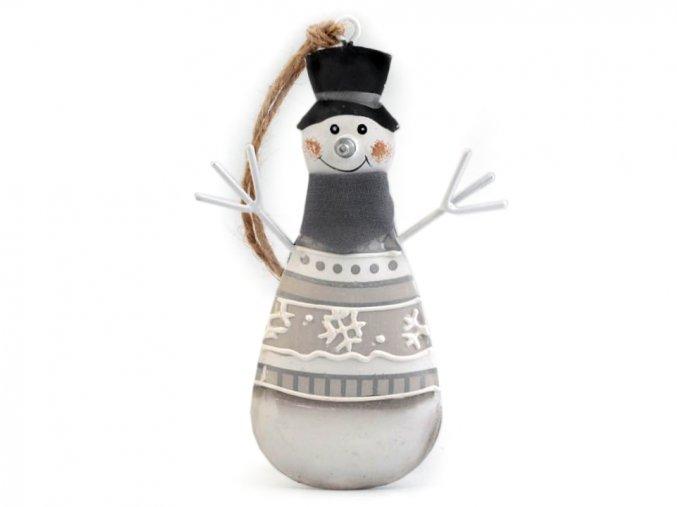 Dekorace - sněhulák kovový
