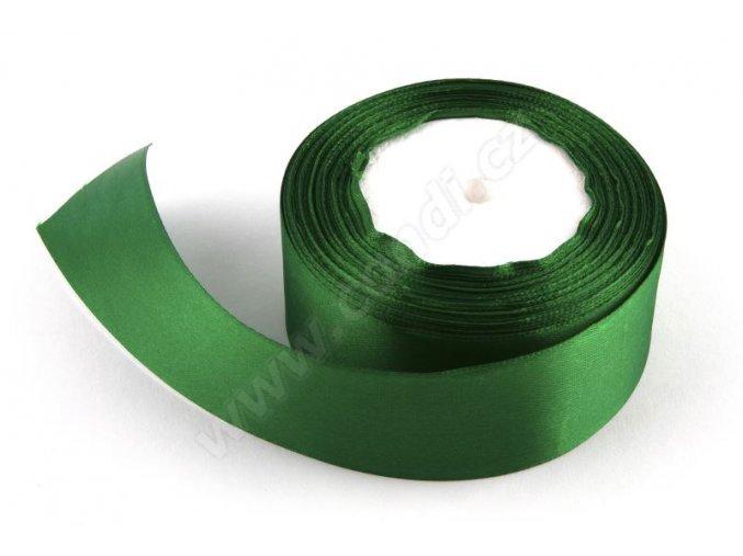 Stuha saténová 4 cm x 23 m - zelená