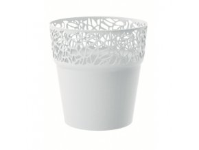 PROSPERPLAST - NATURO květináč bílý