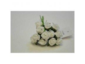 DEKORACE - pěnová růžička bílá