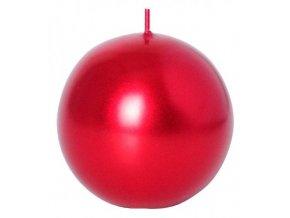 Svíčka koule 56 mm Metal červená