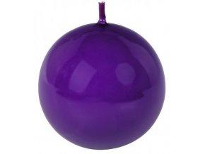 Svíčka koule 56 mm fialová