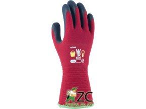 ROSTETO KIDS - dětské pracovní rukavice červené