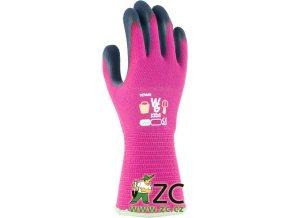 ROSTETO KIDS - dětské pracovní rukavice růžové v.6