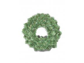 Věnec umělé jehličí - kruh 24 cm zelený