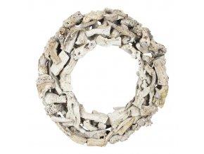 Věnec z dřívek - kruh 40 cm šedý