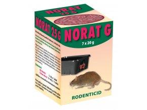NORAT 25  G - požerové granule pro hlodavce