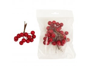 Dekorace - bobule červené 48 ks