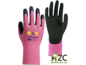 ROSTETO FLORA pracovní rukavice růžové