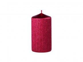 Svíčka drápaná 60 x 120 mm perla červená