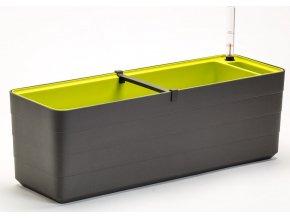 BERBERIS - Truhlík samozavlažovací antracit + zelená 60 cm