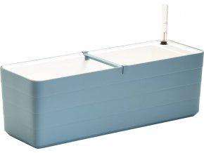 PLASTIA - BERBERIS - Truhlík samozavlažovací šedomodrá + bílá 60 cm